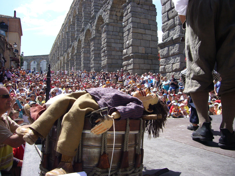 Espectáculo en la Plaza del Azoguejo