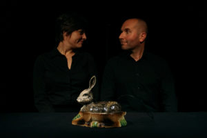 Llegando a un acuerdo... Escena final de Ma biche et mon lapin, de Aïeaïeaïe. Fotografía de Aina Zoilo
